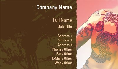 Body Art Illustration Business Card Template